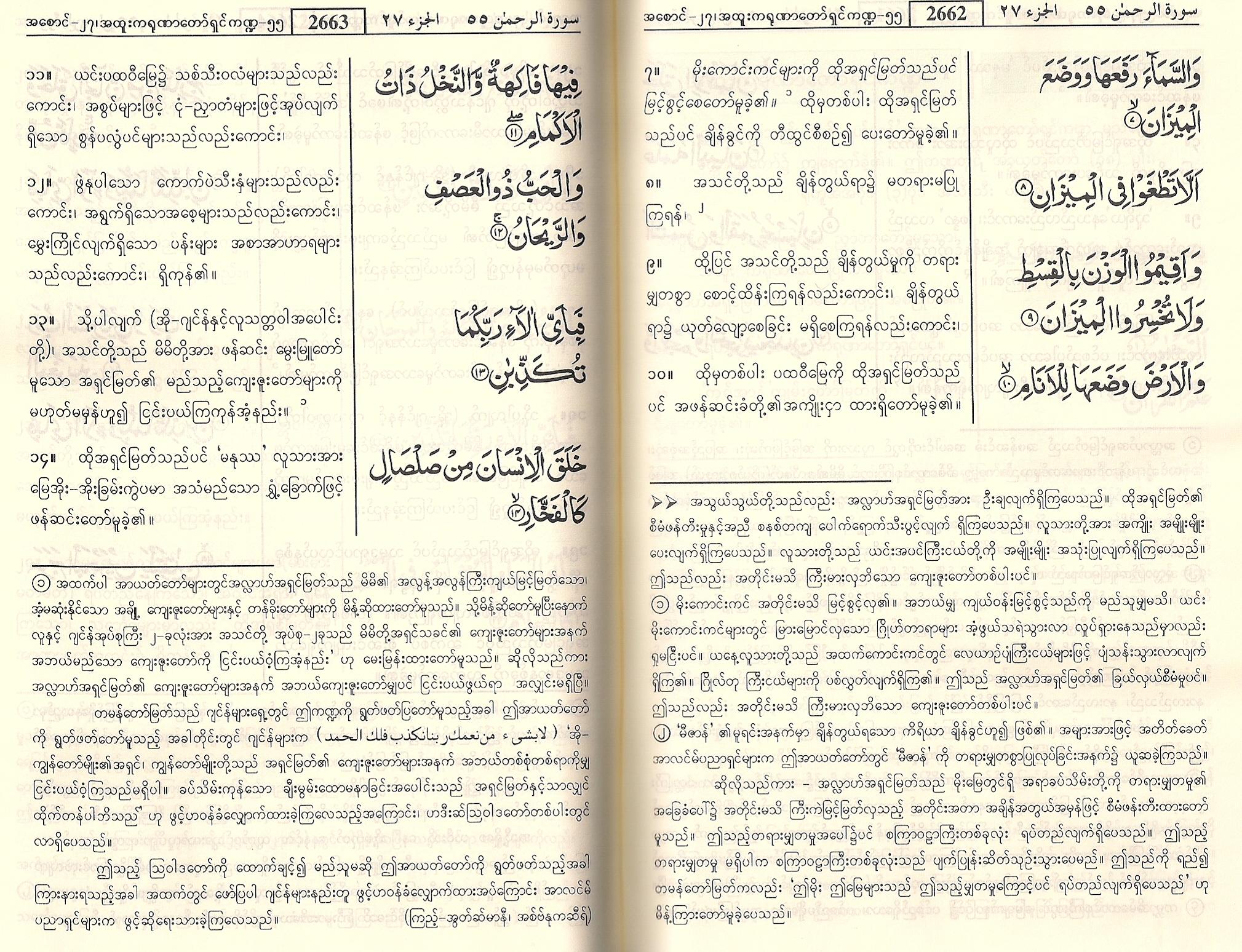 surah rahman pdf in english