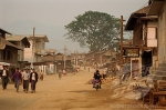 Main street of ruby mining town, Mogok, Mandalay District, Myanmar Burma, Asia