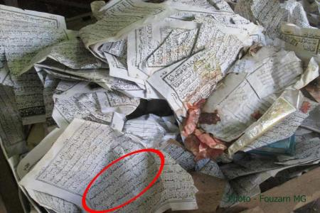 Quran torn by Buddhist terrorists in Myanmar