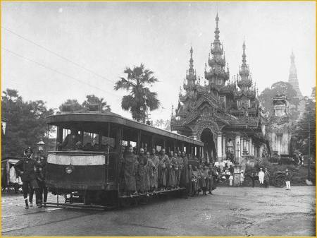 Tram free ride for monks